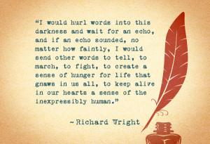 Richard Wright quote