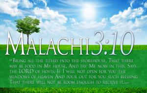 Bible Verses On Tithing Malachi 3 10 HD Spring Sun Wallpaper
