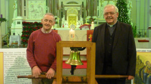 Fr Pat Hayes amp Fr Billy Meehan picturedj with Bell