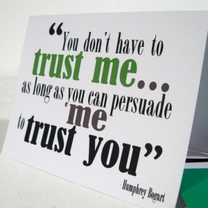 Trust me quotes
