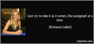 It Just Take a Day at a Time Quotes