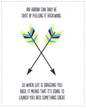 Free Arrow Printable Quote