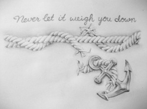 Inspirational anchor tattoo #designidea