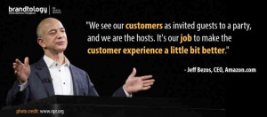 ... nice quote about customer service from Amazon.com CEO, Jeff Bezos