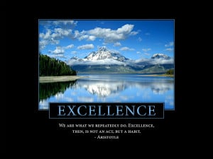 Excellence Poster: Aristotle Quote Art Print