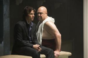 Still of Mark Wahlberg and John Goodman in The Gambler (2014)