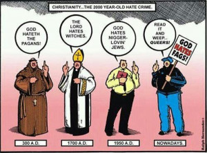 The evolution if Christian hate crimes. Looks like women have been ...