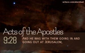 Bible Quote Acts of the Apostles 9:28 Inspirational Hubble Space ...