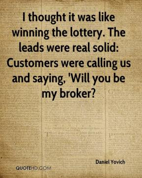 Thought and lottery