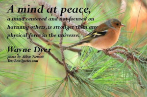 Peace of mind quotes a mind at peace a mind centered and not focused ...