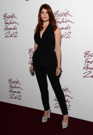 Gemma wears Stella McCartney Evening Fall 2012 Tux Jumpsuit