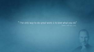 Steve Jobs Motivational Quote