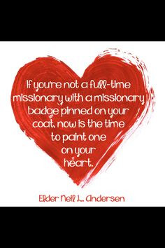 Being a missionary at home at all times - heart shaped pins with the ...