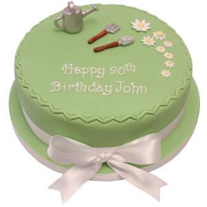 Gardening 90th Birthday Cake