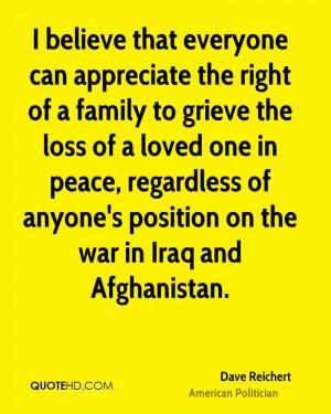 Dave Reichert Peace Quotes