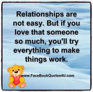 ... Love That Someone So Much, You'll Try Everything To Make Things Work