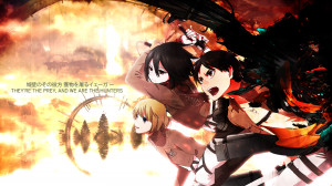 Attack on Titan Shingeki no Kyojian Armin Arlert Mikasa Ackerman Eren ...