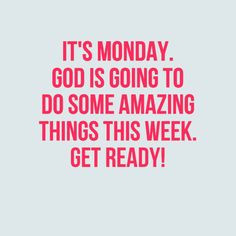 May God bless you abundantly this cold Monday morning! God is going to ...