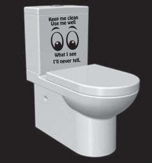 Humorous Bathroom Decor with Toilet Decal Quotes