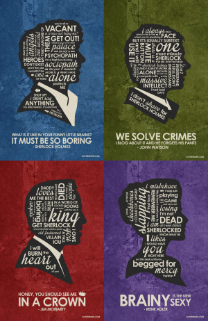 BBC Sherlock Quote Poster SET by outnerdme
