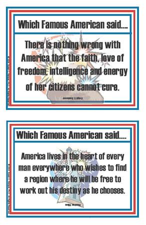 Patriotic Quotations Flashcards