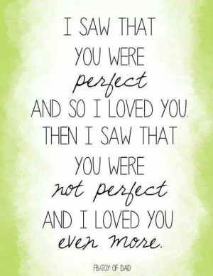 saw that you were perfect
