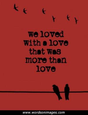 Edgar allan poe love quotes