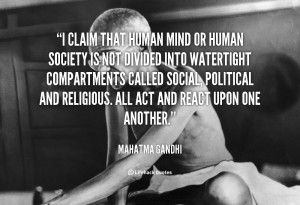 quote Mahatma Gandhi i claim that human mind or human 41622 1 png