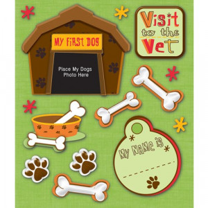Dog Scrapbooking Paper, Quotes and Stickers