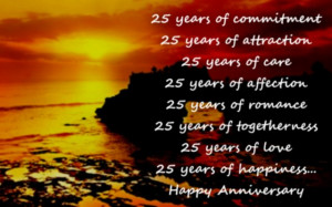 25th Anniversary Wishes: Silver Jubilee Wedding Anniversary Quotes