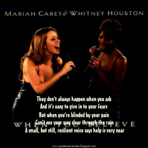 MARIAH CAREY ft WHITNEY HOUSTON - When You Believe