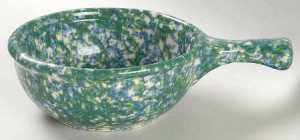 Blue-Green Spongeware