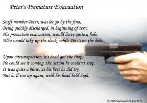 Peter's Premature Evacuation