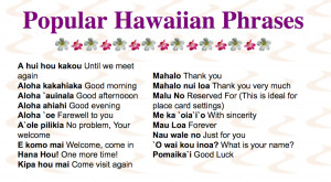 Hawaiian Sayings