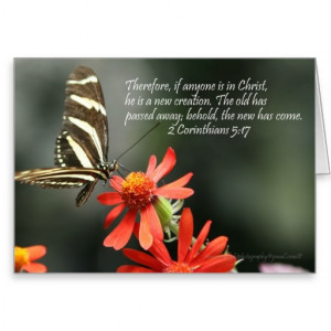 Butterfly Card with Bible Verse