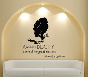 Custom Name Salon Vinyl Wall Decal Quote A Woman's Beauty People ...