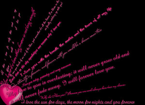 love quotes heart pink