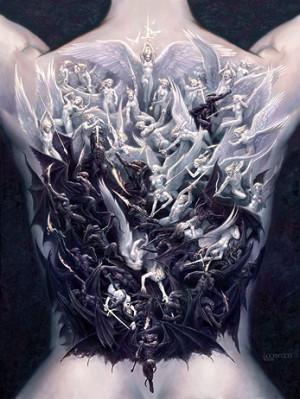 求素材,天使与恶魔