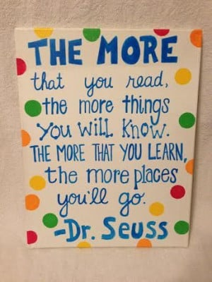 Dr. Seuss Reading Quote Canvas by MegansCanvases on Etsy, $15.00