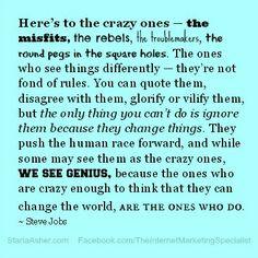 Steve Jobs Quotes StarlaAsher.com Twitter.com/... Steve Jobs was ...