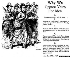 Why Men Shouldn't Vote, According To 1915 Suffragette Satire