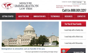 Missouri Immigration Law Firm Case Study – Web Design and ...