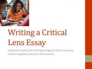 Writing a Critical Lens Essay