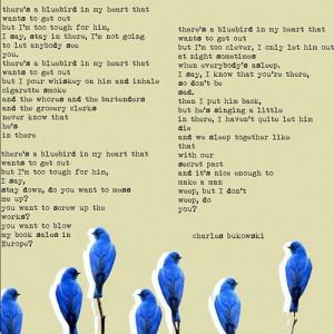 no i don't weep the bluebird : bukowski