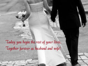 marriage congratulations ecard with a quote