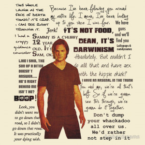 Sam Winchester quotes, a t-shirt of tv, quotes, supernatural, and ...