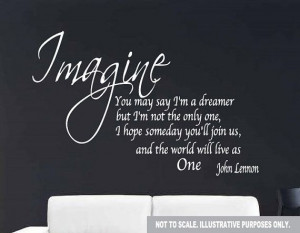 Large John Lennon Wall Quote Decal Sticker 34