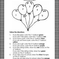math worksheet : free following directions coloring worksheets  coloring pages for  : Following Directions Worksheets Kindergarten