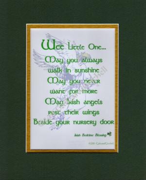 Infant Bedtime Blessing Irish Celtic Print Plaque 8
