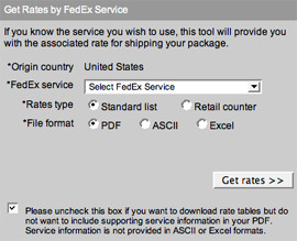 Obtain a rate quote and determine the expected delivery date and time ...